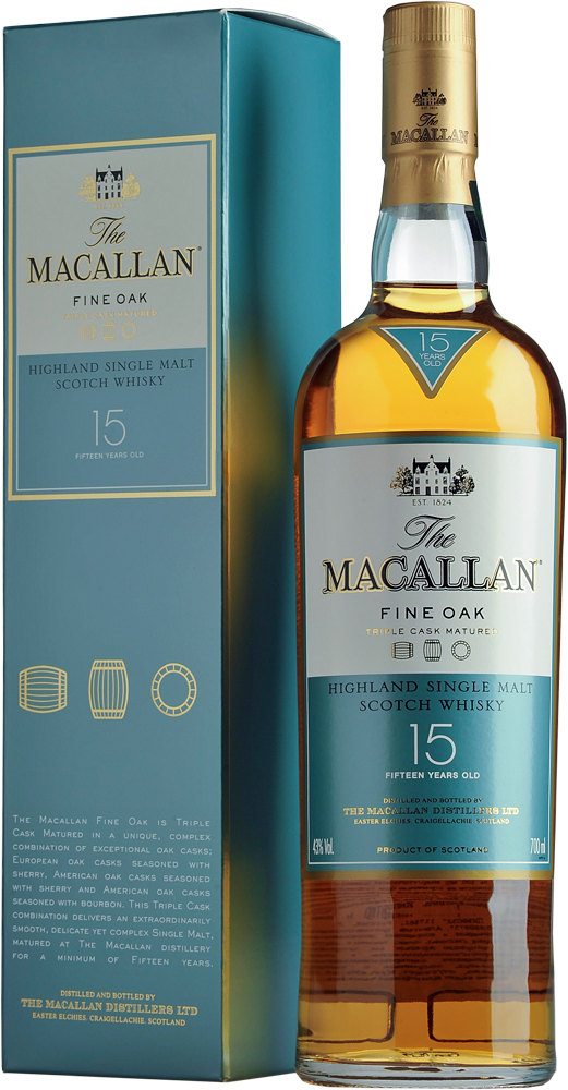 Крепкие  Macallan  Macallan 15 years Fine Oak Single malt Speyside