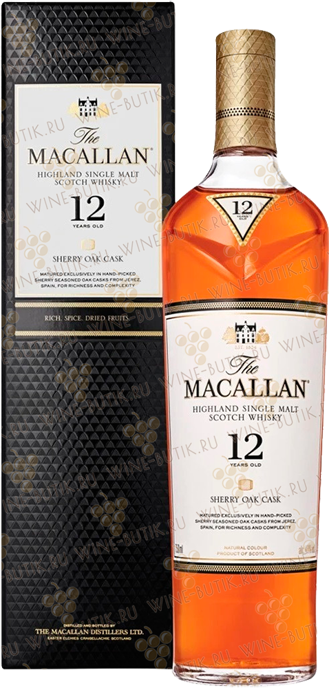 Крепкие  Macallan  Macallan 12 years Sherry Oak