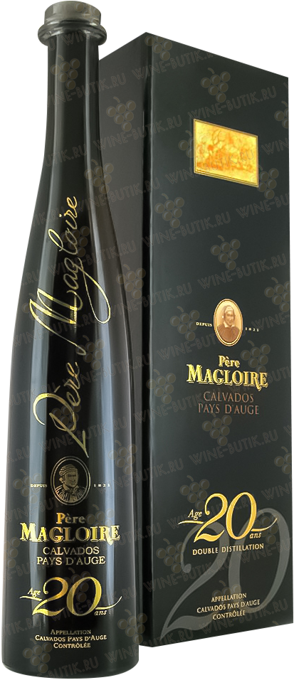 Крепкие  Pere Magloire  Pere Magloire 20 years gift box 0.5l