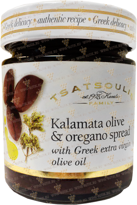 Деликатесы  Tsatsoulis Bross S.A.  Kalamata olive and oregano spread with Greek extra virgin olive oil