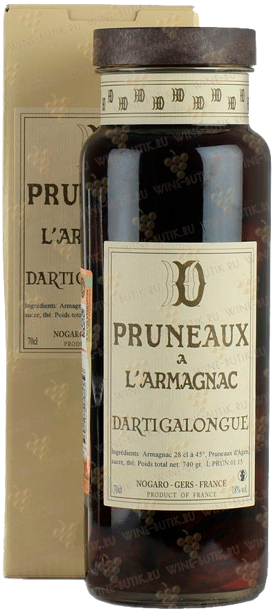 Крепкие  Armagnac Dartigalongue  Pruneaux a l'Armagnac Dartigalongue in gift box