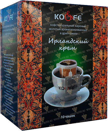 Деликатесы  Ko & Fe  Drip Bag Coffee Irish Cream