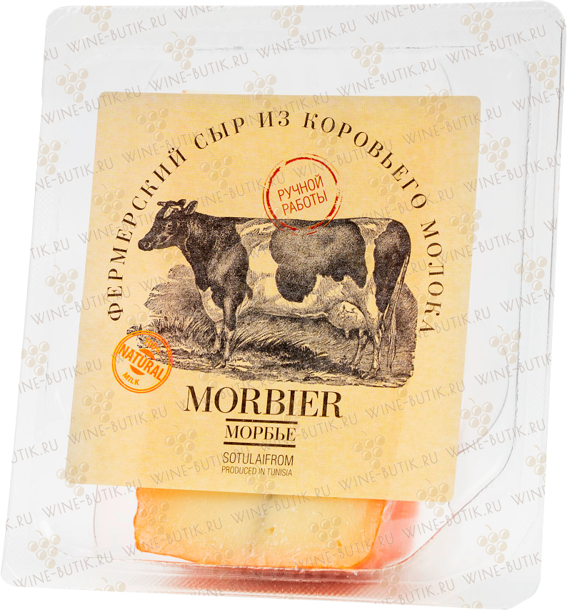 Деликатесы  Sotulaifrom  Cheese is cow's milk  «Morbier Cinderella»