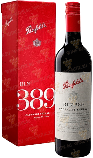 Вино  Penfolds  Bin 389 Cabernet Shiraz 2014 Penfolds gift box