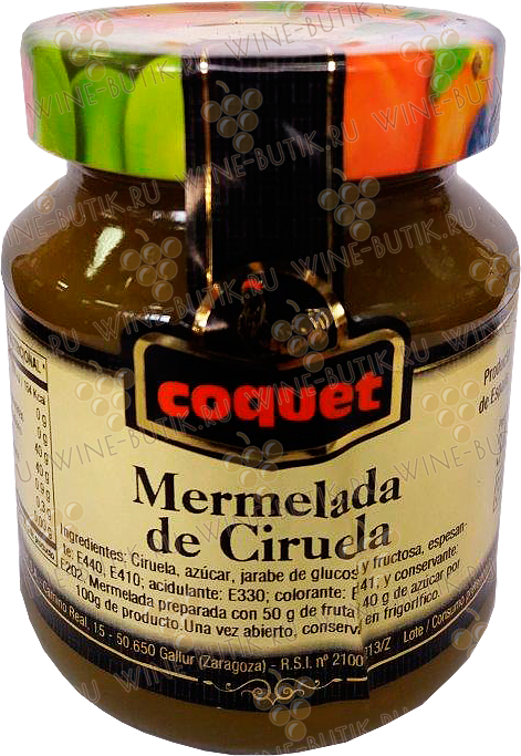 Деликатесы  Industrias Coquet  Plum jam Coquet  340 g