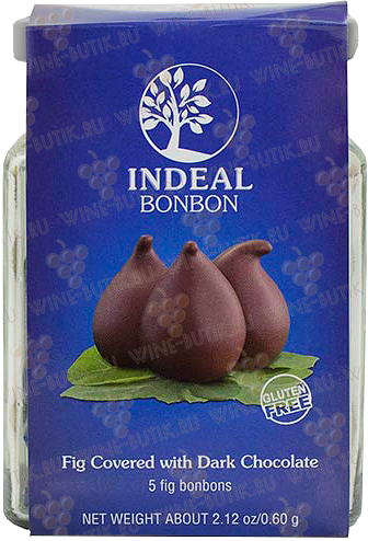 Деликатесы  INDEAL  Figs in chocolate INDEAL glass packing 5pcs