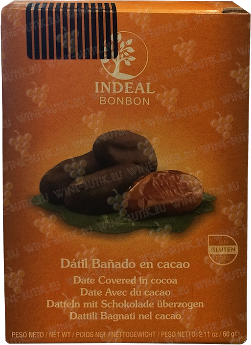 Деликатесы  INDEAL  Dates in chocolate INDEAL in box 5pcs