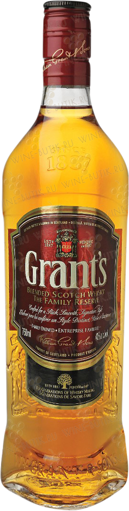 Крепкие  William Grant & Sons  Grant's Family Reserve 0,75l
