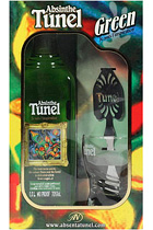 Absinthe Tunel Green with spoon and glass in gift box