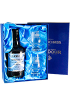 Edradour Caledonia 12 years gift box with 2 glasses
