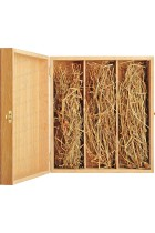 Case for 3 bottles Bourgogne from wood (sapelli)