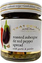 Roasted aubergine and red pepper spread