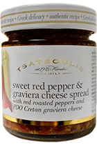 Sweet red pepper and Graviera cheese spread