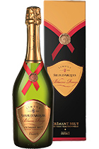 Blason Rouge Cremant Limoux Sieur d'Arques in gift box