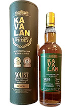 Kavalan Solist ex-Bourbon Cask Single Cask Strength 57.8% gift box