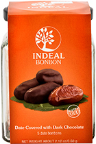 Dates in chocolate INDEAL glass packing 5pcs