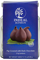 Figs in chocolate INDEAL glass packing 5pcs