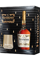 Hennessy VS gift set with 2 glasses