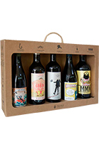"Gift case for 5 bottles of wine ""The Invisible man 2014, La Marimorena 2015, Maquinon 2015, Macho Man Monastrell 2014, El Gordo del Circo 2015"""