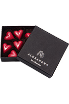 "Set of sweets ""Red hearts"" 7 pcs in gift box"