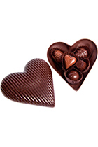 "Set of sweets ""Chocolate heart"" 5 pcs in the chocolate box"