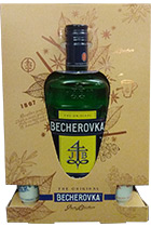 Becherovka gift box with 2 cups