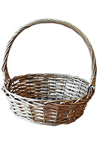 Wicker Basket Gold Medium