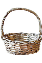Wicker Basket Gold Small