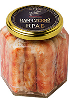 Canned Crab Premium glass jar 400 gr