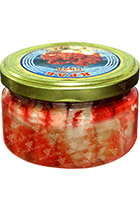 Canned Crab Lux glass jar 230 gr