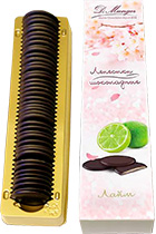 Chocolate Petals with Lime 100 gr