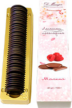 Chocolate Petals with Raspberry 100 gr