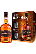 The Irishman Founder's Reserve gift set with 2 glasses