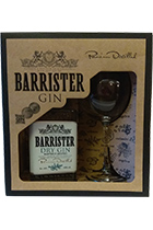 Barrister Dry Gin with a glass gift box