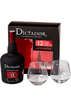 Dictador 12 Years gift set with 2 glasses