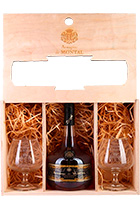 Armagnac de Montal Hors d'Age gift set with 2 glasses